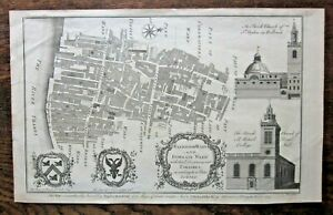 1755 Walbrook & Dowgate Wards Mansion House Canon St Cole London City Antique
