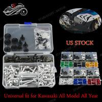 CNC Full Set Universal Fairing Bolt Kit Fasteners For Kawasaki ZX7R 1996-2003