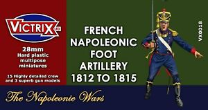 VICTRIX ~ NAPOLEONIC ~ FRENCH FOOT ARTILLERY 1812 - 1815 ~ NEW ~ UNOPENED