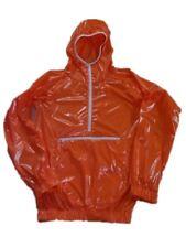 Glossy Shiny Nylon Wetlook Smock Wind Jacket Rain Coat Windbreaker