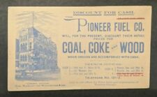 1902 Pioneer Fuel Co Coal Coke and Wood New Haven CT Advertising Postcard Cover