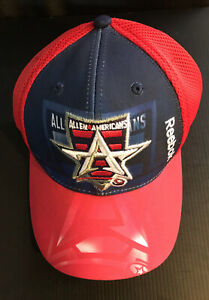 Allen Americans ECHL Minor League Hockey Red and Blue Snapback hat Cap NWT