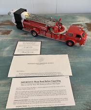 Franklin Mint American LaFrance Series 700 Fire Engine W/Coa - Mint