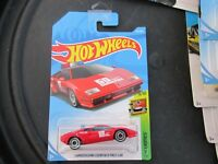 HOT WHEELS 2018 217/365 LAMBORGHINI COUNTACH PACE CAR NEW ON LONG CARD