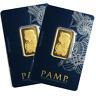 Lot of 2 - 20 Gram Pamp Suisse .9999 Fine Gold Bar Fortuna Veriscan