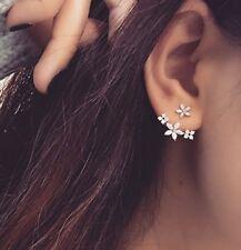 d613f3fa6 Sterling Silver Ear Jacket Earrings Women's Front Back Earrings Jacket  Earrings