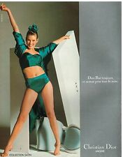 Publicité Advertising 1987 Lingerie sous vetements soutien gorge Christian Dior