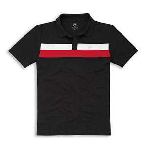 Original Ducati D-Stripe Polo Shirt Grey New
