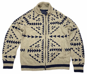 NWT AMERICAN EAGLE Mens Cardigan Sweater Sz L Full Zip Gray/Blue #290429