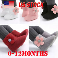 Baby Infant Girls Winter Shoes Keep Warm Plush Snow Boots Soft Casual Crib Shoes