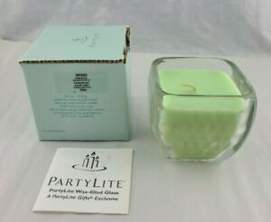 PartyLite Honeydew Candle Filled Glass Jar