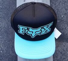 New Fox Racing Motocross Team Vapors Black Trucker Snapback Hat One Size HTFOX-7