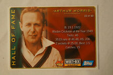 Cricket - Double Sided Weet Bix Card with stats. - Arthur Morris -Darren Lehmann