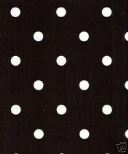 1.4m/140cm quadrato a pois nero bianco PULIZIA PVC Vinile tela cerata COPERTURA