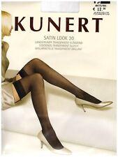 """Kunert """"Satin Look 20"""" Langstrumpf in weiss versch. Größen"""