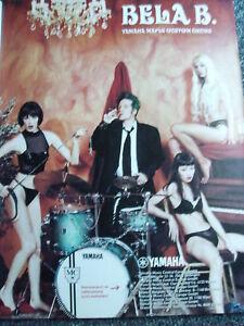 Bela B.-Yamaha Maple Custom Drums Poster-Germany-Ärzte