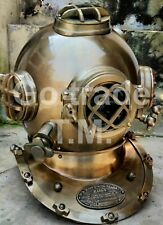Antique Navy Mark V Boston Dive Helmet Diving Divers Helmet Christmas Day Gift