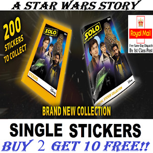 Topps SOLO A Star Wars Story Stickers Singles Numbers 1-198  BUY 2 GET 10 FREE!
