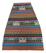 Jon and Anna Size Large Red Green Multi Color Print Long Maxi Skirt FREE SHIP