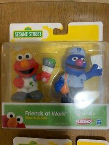 Sesame Street Elmo and Grover Figures Rare find.  Playskool