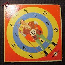 "1950's ROBIN HOOD Official Richard Greene 12x12"" Dart Board VG- 3.5 Chad Valley"
