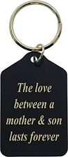 The Love Between A Mother and Son Lasts Forever - Black Brass Keychain - Grea...