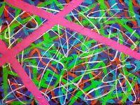 """tableau art moderne abstrait contemporain """"ascension """" ACRYLIQUE  60x80 CM SIGNE"""