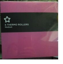 Superdrug Thermo Velcro Pink Hair Rollers Hair Tools - Medium