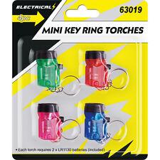 4 x Mini Porte-Clés Lampe Torche