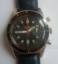 60s Jules-Jurgensen Two Registers 20 ATM Men Divers Chronograph Cal.248