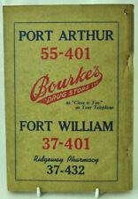 Vintage Lakehead Port Arthur Fort William Telephone Directory 1956-1957 w/ Ads