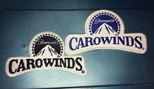 Lot of 2 Paramount CAROWINDS Amusement Park PATCH Embroidered Employee Logo