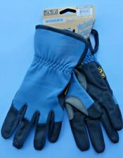 MECHANIX WEAR WOMENS LADIES PADDED PALM GARDENING GLOVES LARGE BLUE NEW + TAGS