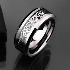 Celtic Dragon Titanium Stainless Steel Men's Jewelry Wedding Band Punk Rings Hot