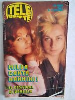 Telesette 1983 Milva Nannini Cova Fenech Fellini Ruta Stray Cats Lou Reed Milian