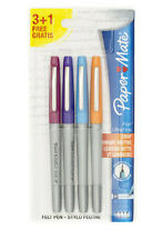 PAPERMATE FLAIR ULTRA FINE TIP ASSORTED 4 PACK PEN METAL POCKET CLIP NEW