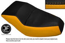 BLACK & YELLOW AUTOMOTIVE VINYL CUSTOM FITS HONDA HELIX CN 250 DUAL SEAT COVER