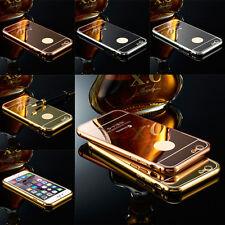 de lujo aluminio ULTRAFINA Espejo Metal Funda para Apple iPhone 5s 6 6s Plus