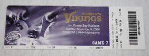 Minnesota Vikings Ticket Stub | November 9 2008 | Adrian Peterson 19th Career TD