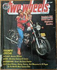 Two Wheels Magazine March 1979 - Honda's CBX, Triumph Special, Kawasaki KZ1300