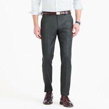 NWT J.Crew Men's Ludlow Suit Pant in Heathered Italian Wool Flannel 33/30