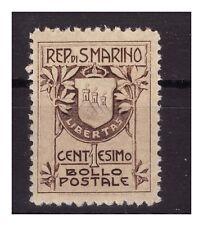 SAN MARINO 1910 -  STEMMA 1 CENTESIMO   NUOVO  **