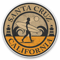 2 x Vinyl Stickers 7.5cm - Santa Cruz California Surf Beach Cool Gift #5075