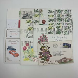Post Office First Day Covers Bundle Job Lot x 12 1964 - 2002 British Flowers