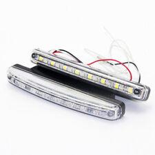 2x 12V 8LED 5050 Light DRL Car Trailer Fog Day Driving Universal Lamp Bulb 6500K