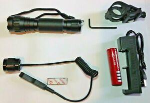 AIRSOFT CREE TORCH KIT  FLASHLIGHT WF 501B LIGHT ULTRAFIRE  BLACK WF-501B Lamp