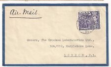 Malta Kgvi 2 1/2d Single Franking Airmail to Londond England, Alfred Gera & Sons