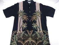 Pierre Cardin Size M Short Sleeve Shirt Tropical Palm Trees Hawaiian Casual