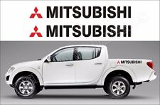 Mitsubishi L200 Truck bed  side racing stripe stickers decals graphics