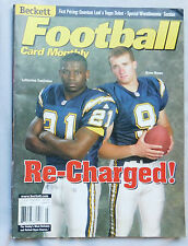 2001 Football Card Monthly San Diego Chargers LaDainian Tomlinson & Drew Brees